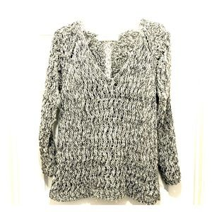 ZARA KNIT CROCHET TRIM SWEATER